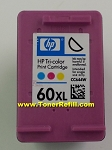 HP #60XL Color Tri Color Inkjet Cartridge CC644wn